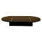 "54""L Oval Glass Display Base - Black"