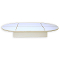 "54""L Oval Glass Display Base - White"