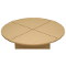Revolving Glass Display Base - Maple