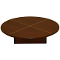 Revolving Glass Display Base - Walnut