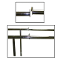 Extension Rails For Double Bar Clothing Racks - Chrome