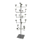 5 Tier Hat Display Rack - Chrome