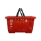 Plastic Shopping Basket - Red