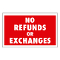 """NO REFUNDS OR EXCHANGES"" Plastic Sign Card"