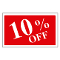 """10% OFF"" Plastic Sign Card"